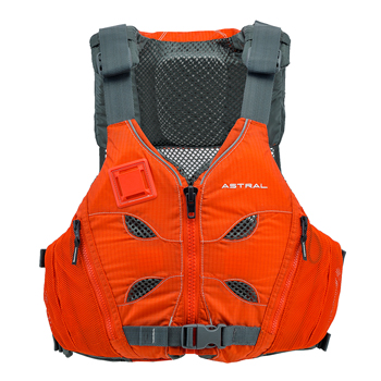 Astral V-Eight seen here in burnt orange for kayaking and Canoeing