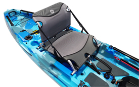 adjustable seat on the Feelfree Moken 12.5 v2 Angler in Ocean Camo