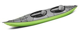 Gumotex Swing 2 closed cockpit tandem inflatable kayak