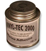 Vinyl Tec 2000 Adhesive for canoes