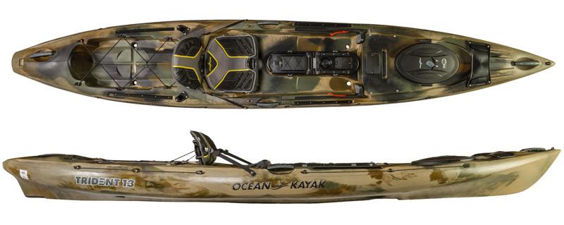 Ocean kayak trident 13 angler 2017 fishing kayaks for 2017 fishing kayaks