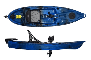 Riot Kayaks Mako 10 Affordable and Feature Packed Pedal Drive Fishing Sit On Top Kayak