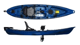 Riot Kayaks Mako 12 Pedal Drive Sit On Top Fishing Kayak