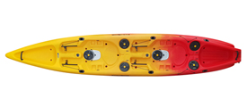 Viking Kayaks Tempo 2 tandem fishing kayak Red/Yellow