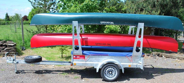 Canoe and kayak trailers in the UK from SOuthmapton Canoes