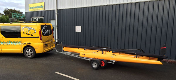 Hobie Kayak trailers for sale in the UK from Southampton Canoes