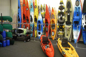 Kayaks for sale at Southampton Canoes, Totton, Hampshire