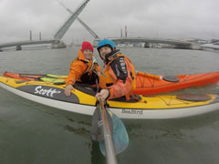 Manager of Southampton Canoes  - Darren on a Seabird Scott